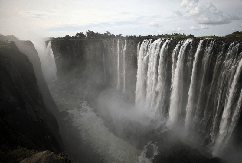 Photo of Victoria Falls in Zimbabwe in January 2019 - running normally