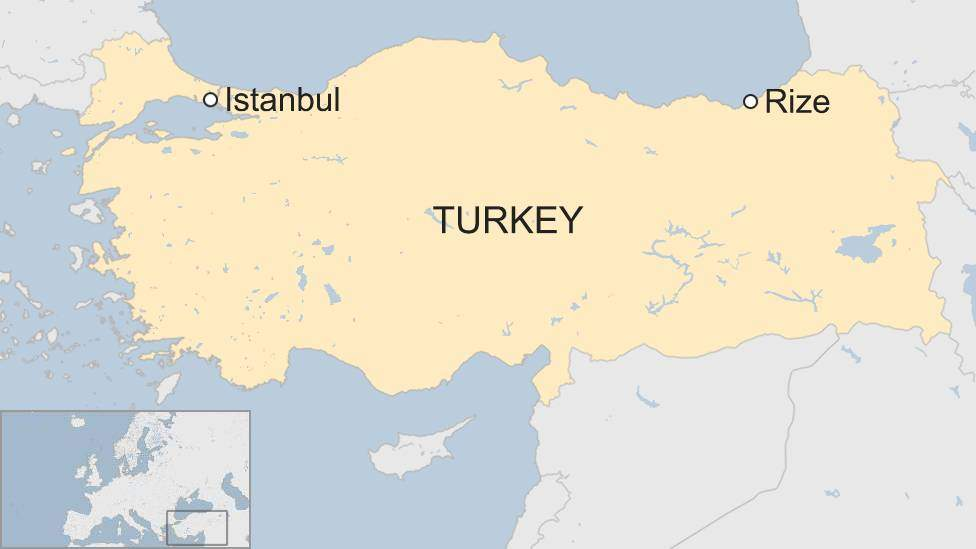 Erdogan's hometown of Rize is 700 miles (1,100 km) east of Istanbul