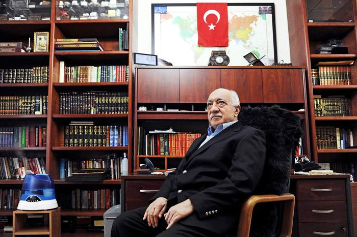 Fethullah Gulen in his study in the US
