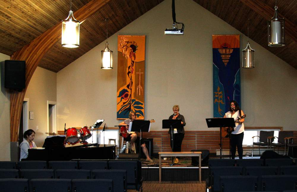 Practicing musical worship at Trinity Pacific