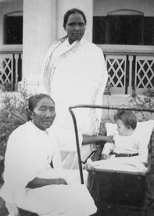 Ken with Bhutia (seated)