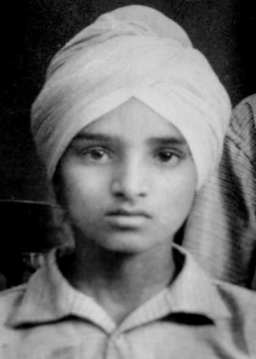 Gurbakhsh as a boy