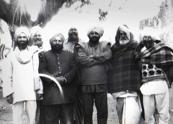 Sikh elders under the banyan tree in Gurbakhsh's village