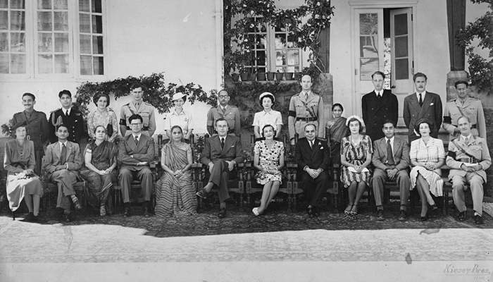 Tara's grandfather is second from left in the back row