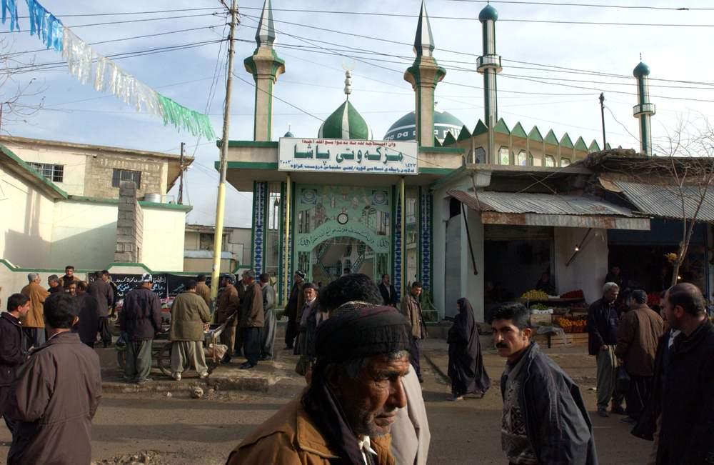 مسجدی در حلبچه