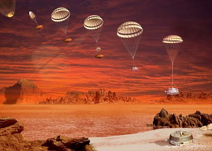 Artist impression of Huygens probe's Titan landing(Esa)
