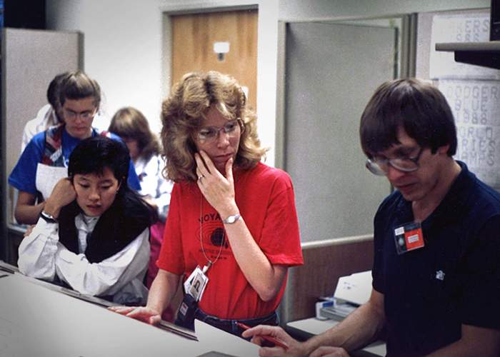 Linda Spilker in 1989(Nasa)