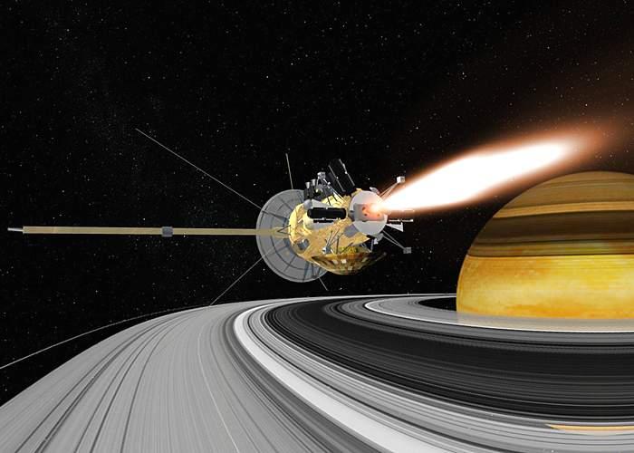 Artist impression of Saturn Orbit Insertion(Esa)