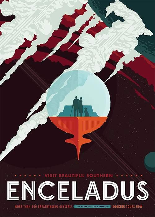 """Enceladus """"tourism"""" poster(Nasa)"""
