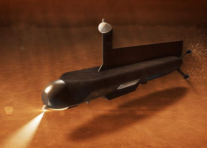 Artist depiction of a submarine on Titan(Nasa)
