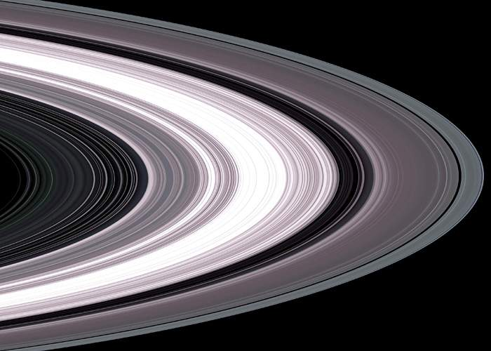 Cassini's view of Saturn's spiralling rings(Nasa)