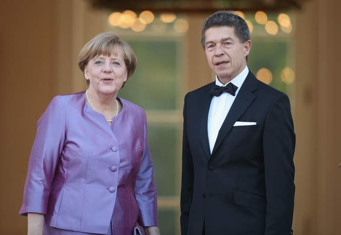 Merkel with her husband, Joachim Sauer
