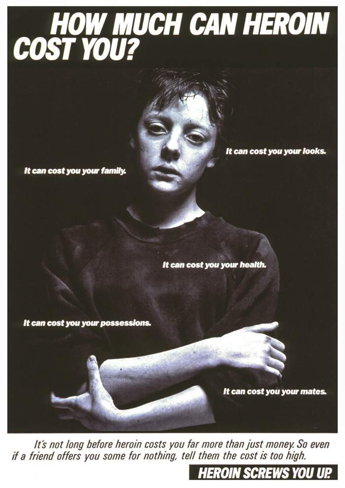 A 1987 health education campaign on the dangers of heroin