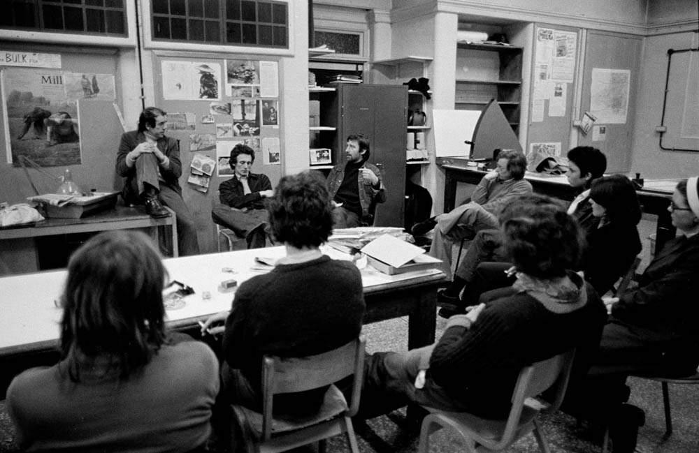 Hurn teaching at Newport in 1975
