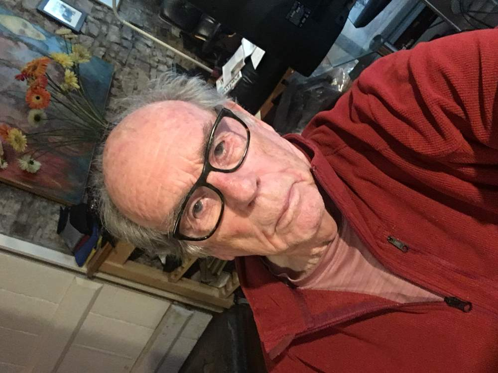 Hurn's first selfie taken earlier this week at his home in Tintern, Monmouthshire