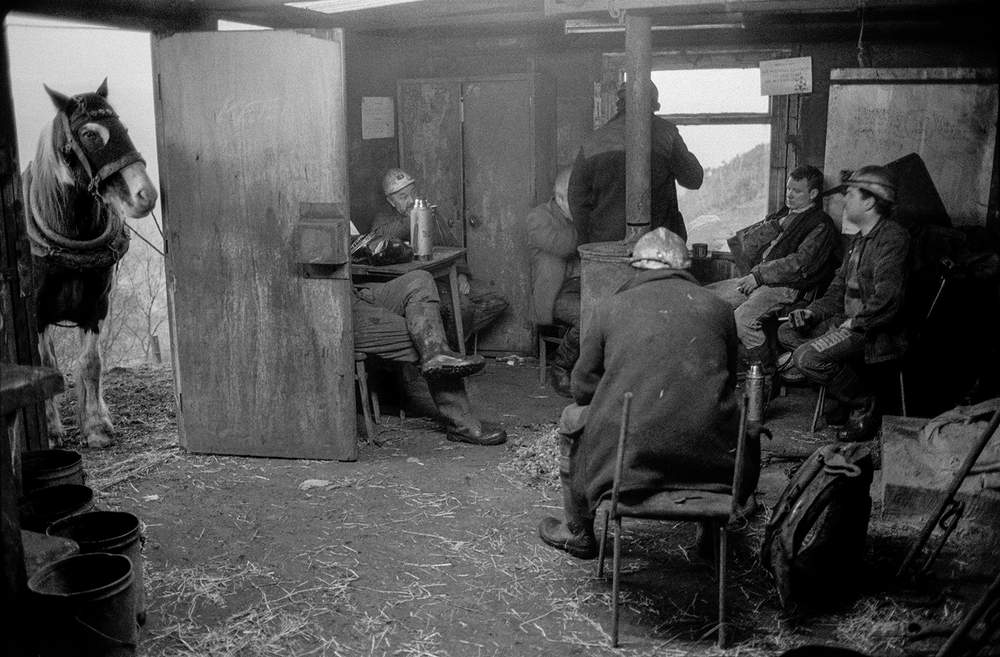 Pit pony handlers' rest room, Neath Valley, 1993, Hurn