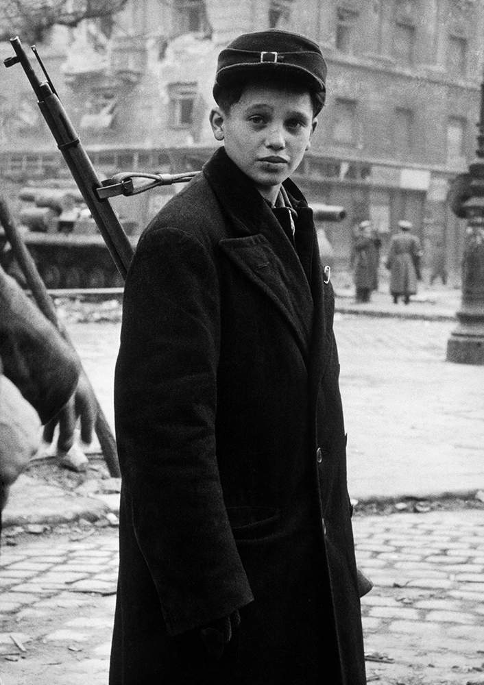 Child freedom fighter, Budapest, 1956