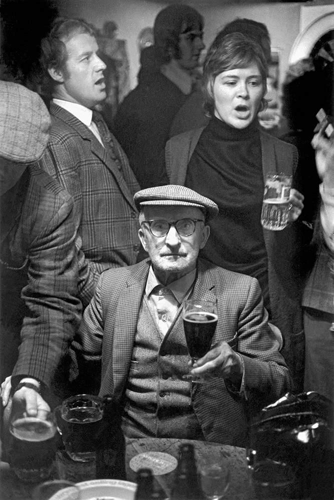 Pub sing-song in Sennybridge, near Brecon, 1971