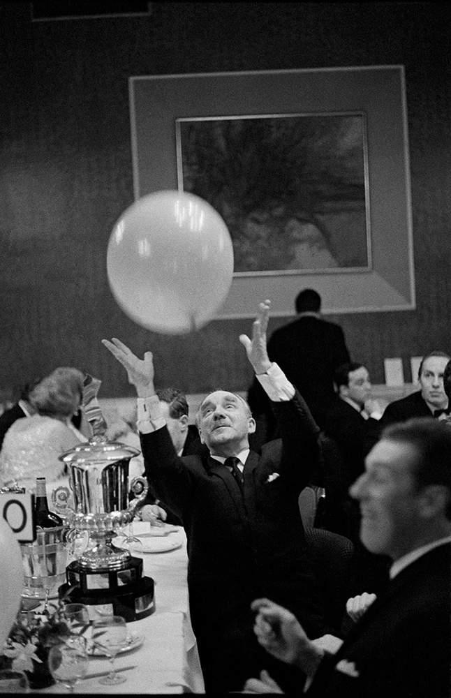 Retired gentleman at MG Car owners ball, Edinburgh, 1967, Hurn