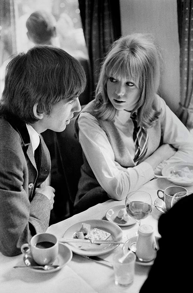 One of George Harrison's first encounters with Pattie Boyd