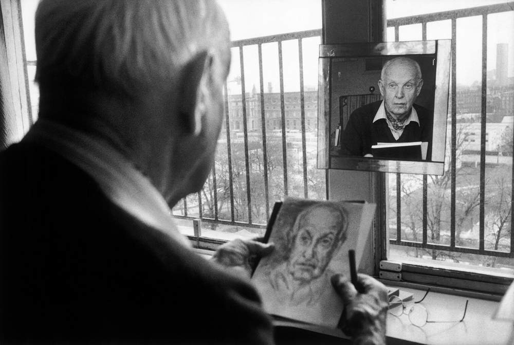 Henri Cartier-Bresson in 1992 by Martine Franck
