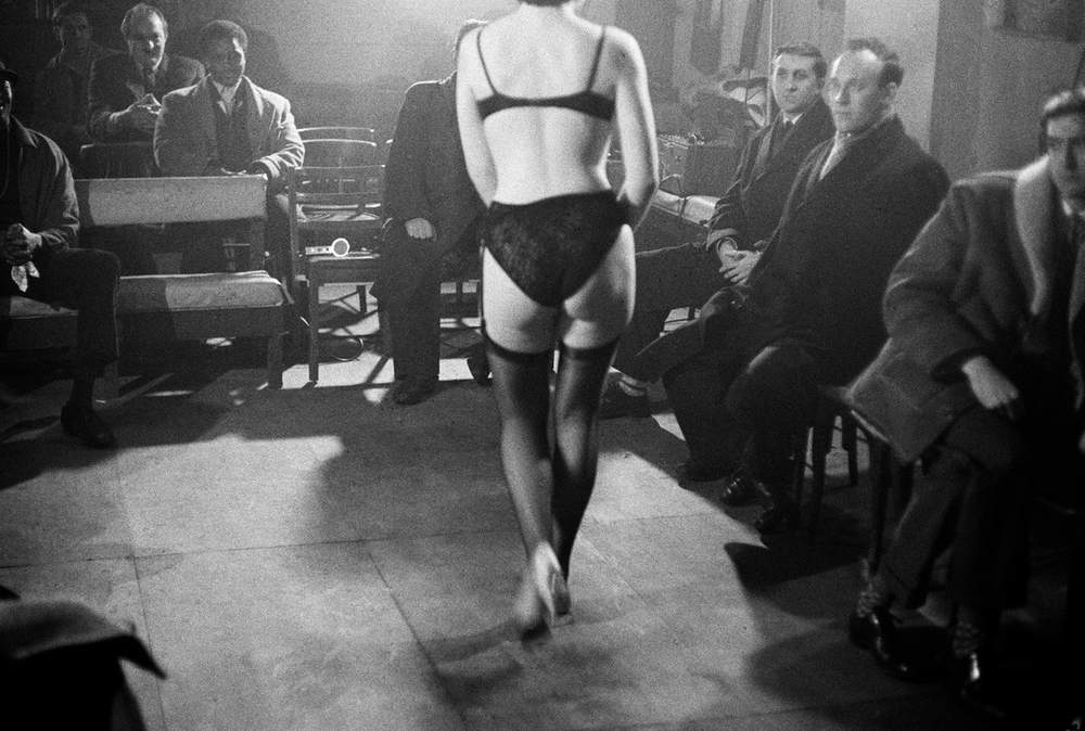 Strip club - thought to be the first of its kind - in Old Compton Street, 1963