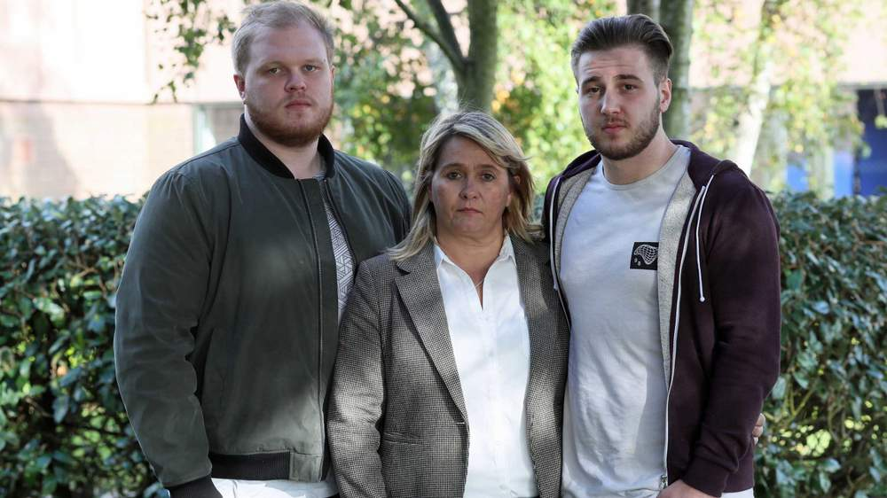 Corrie's brothers, Makeyan and Darroch, with their mother Nicola