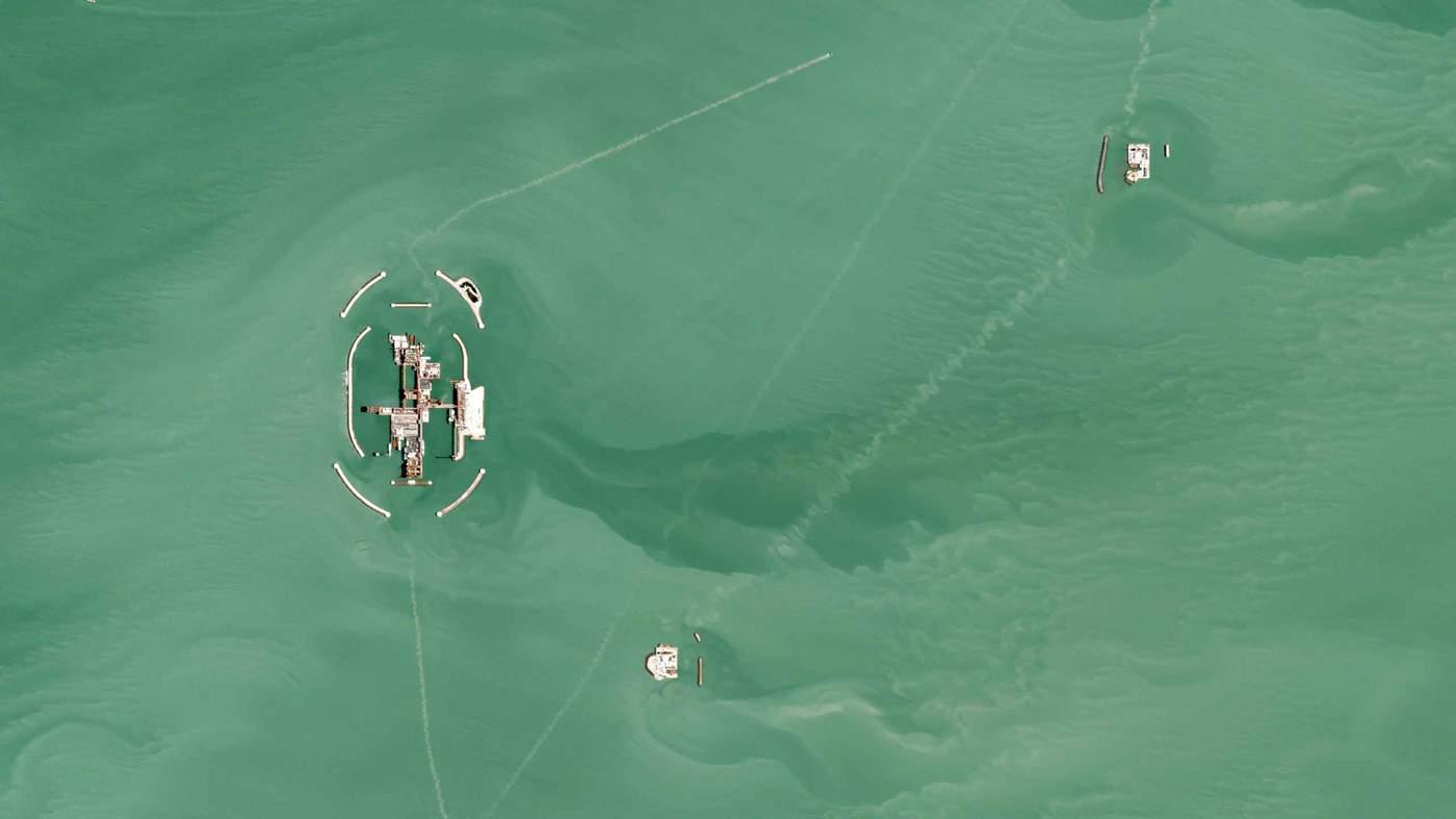 Нефтяное месторождение Кашаган в Казахстане