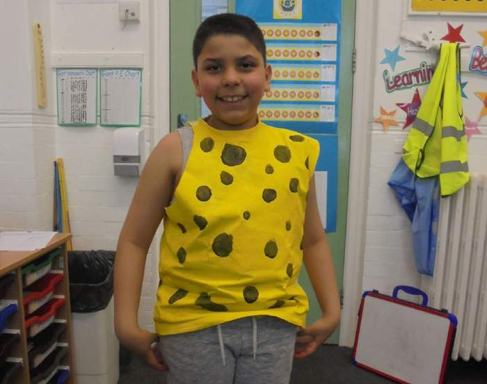 Mehdi, dressed for World Book Day