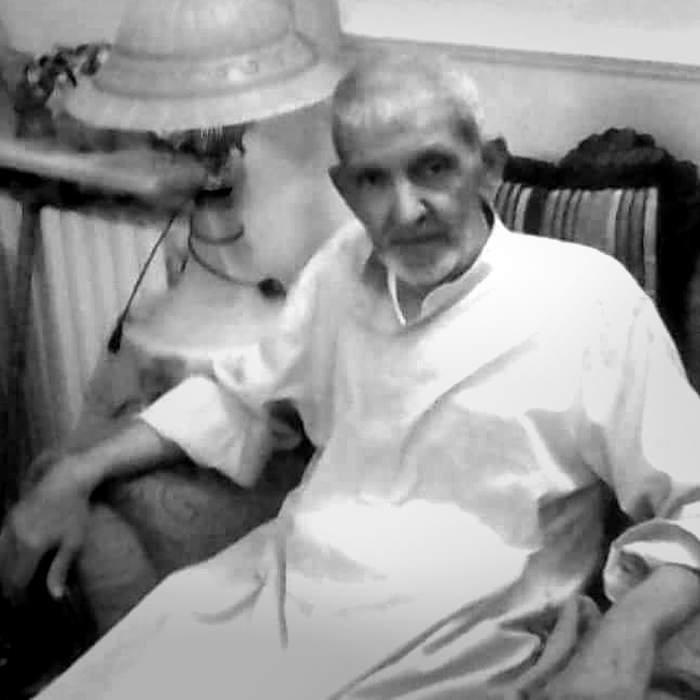 Obeid Agha al-Kaakaji as an older man