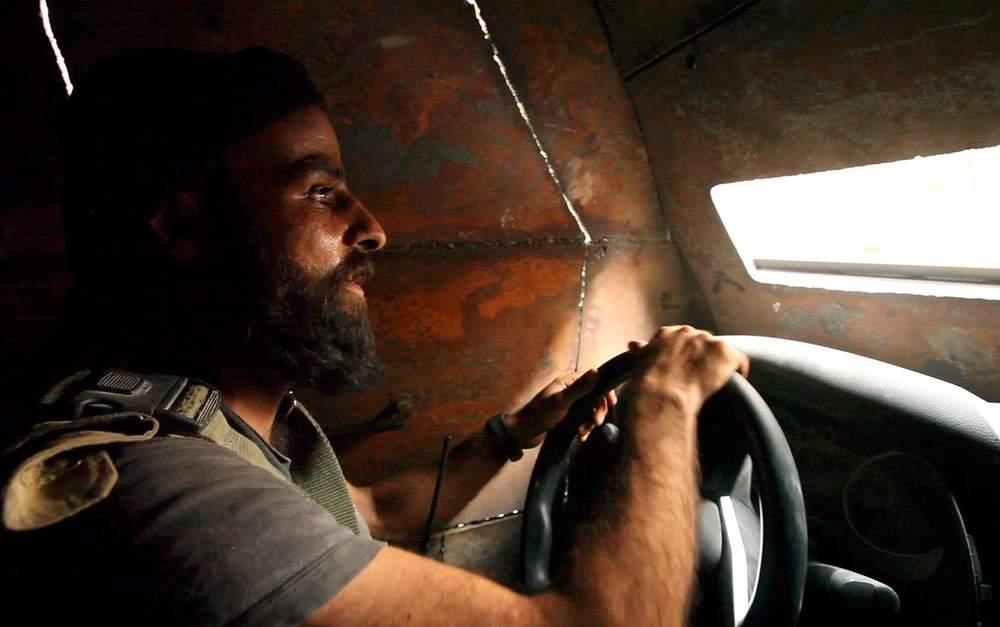 Abu Abdo at the wheel