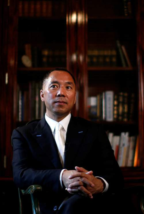 Guo Wengui, photographed in New York