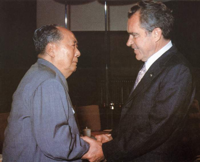 Mao meets US President Richard Nixon in 1972