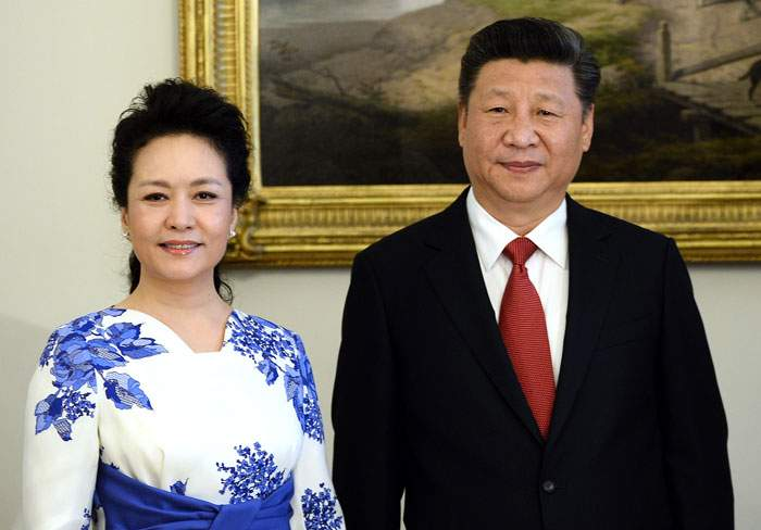Peng Liyuan with her husband, Xi