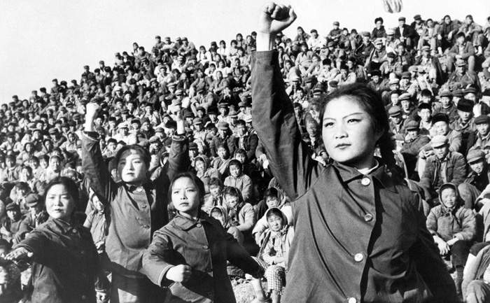 1966: Chinese Red Guards during the Cultural Revolution