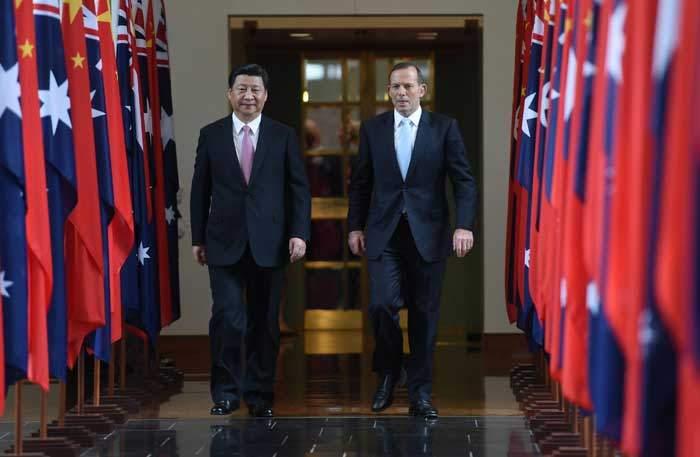 Tập Cận Bình và cựu Thủ tướng Úc Tony Abbott