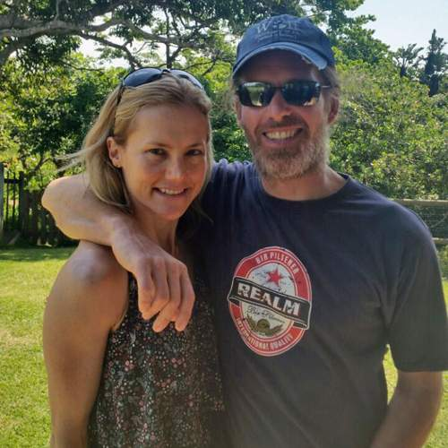 Catherine and Stephen on a recent visit to the South African coast