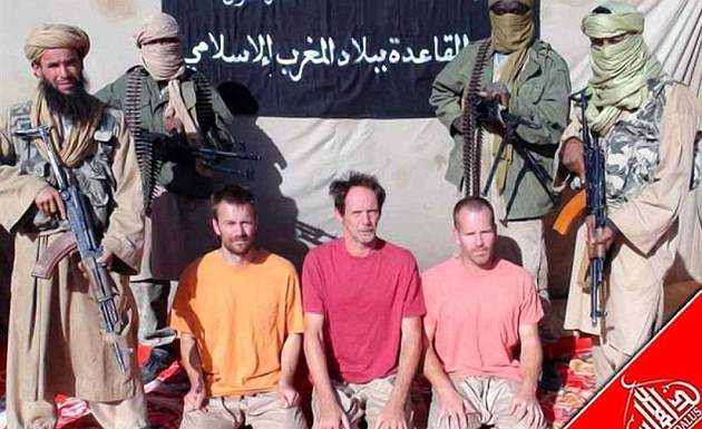 A still from the first hostage video released by al-Qaeda
