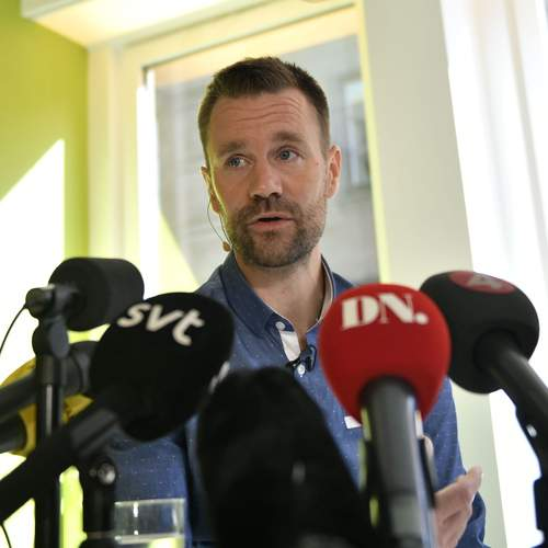 Johan speaks to the press after his release in June 2017