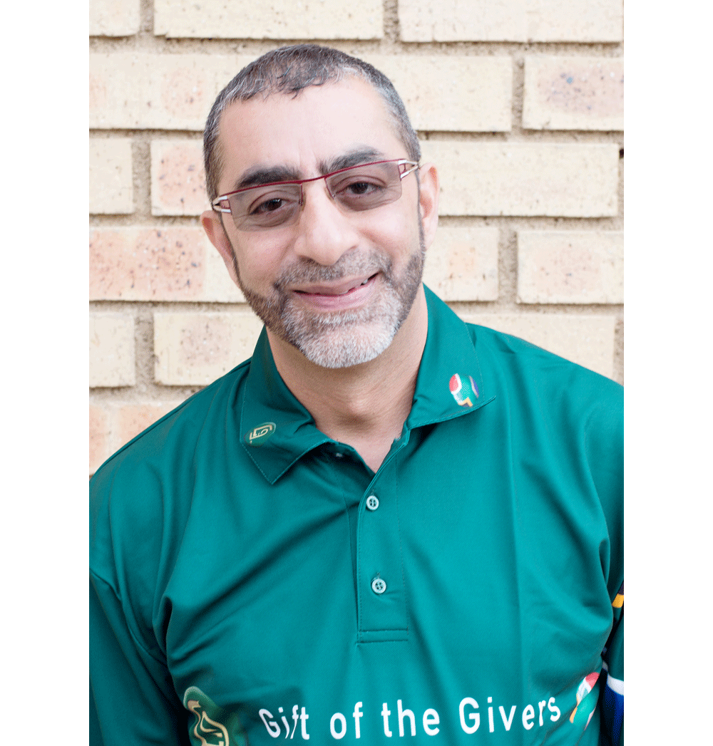 Dr Imtiaz Sooliman, the founder of Gift of the Givers