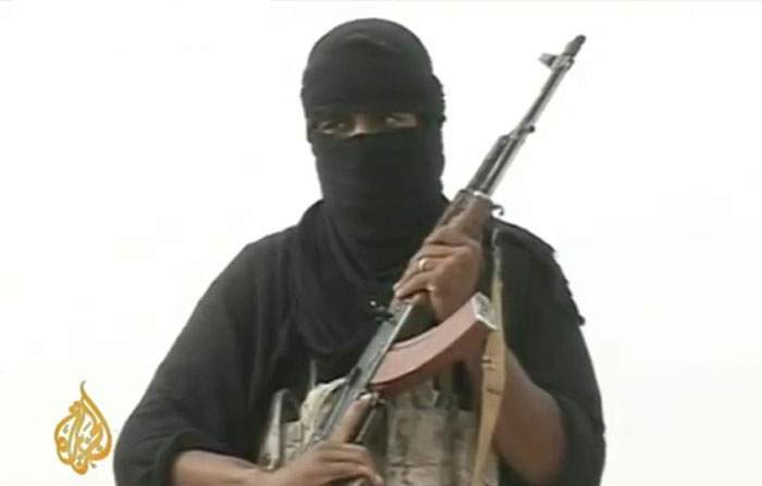 A member of the al-Qaeda group holding the hostages (Photo: Al Jazeera)