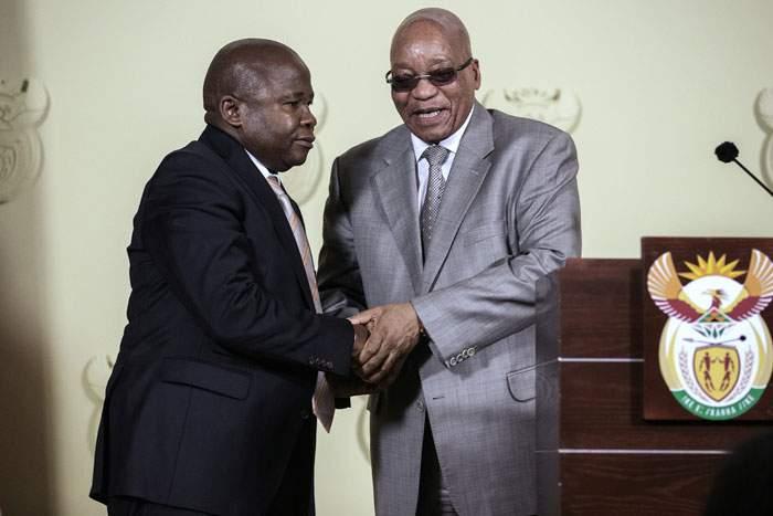 Zuma with his short-lived finance minister, David Van Rooyen