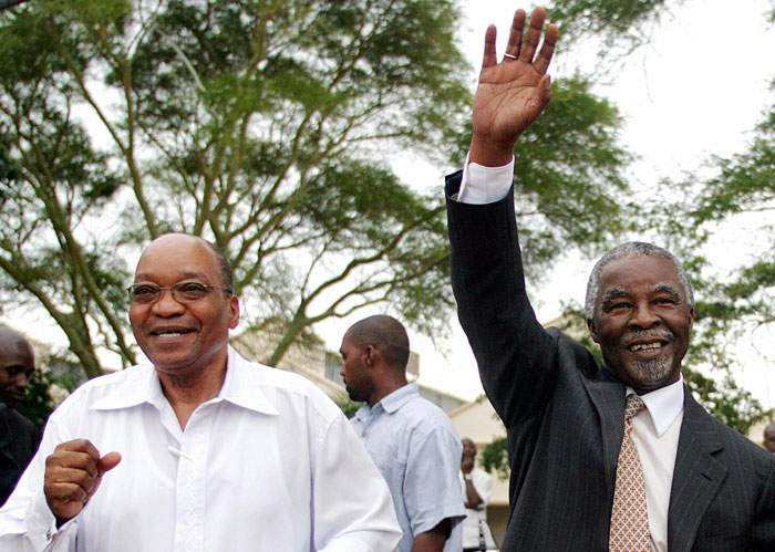 2005: Zuma with former South African President Thabo Mbeki