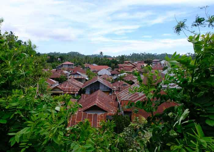 Tombatu in Sulawesi, Indonesia: surrounded by plantations and mosquitoes