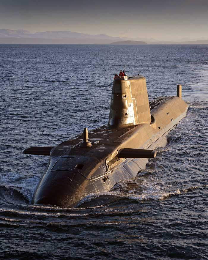 HMS Ambush, one of the Royal Navy's attack submarines