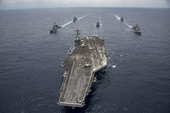 The US aircraft carrier Carl Vinson