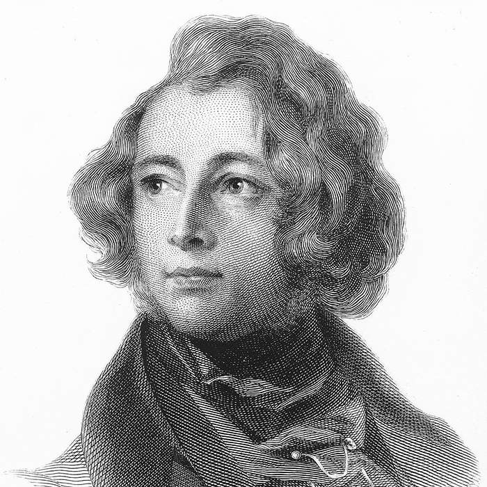 Engraving of Charles Dickens as a young man