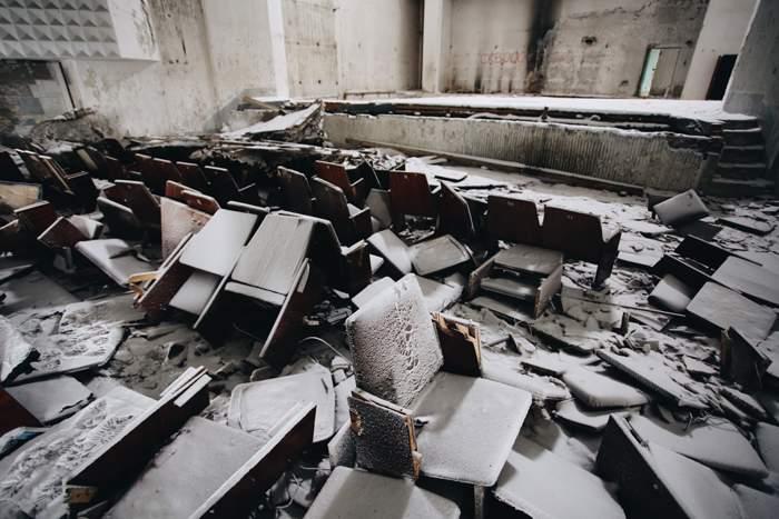 Abandoned cinema in Vorkuta