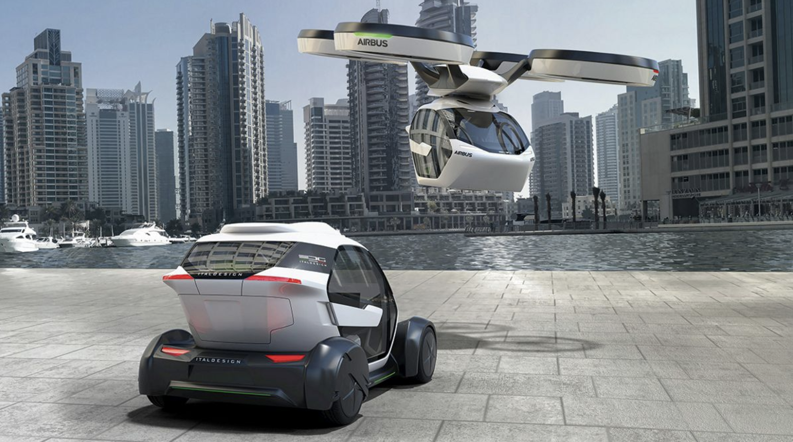 The Airbus Pop.Up ground-and-air concept vehicle
