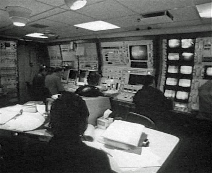 Inside the Hughes Glomar Explorer control room